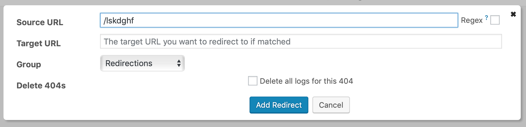 Viewing Redirection WordPress Plugin