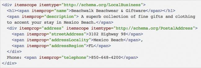 Schema.org Example
